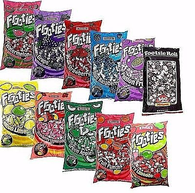 Frooties Fruit Flavored Chewy Candy   Tootsie Rolls 360Pcs Per Bag  11 Flavors
