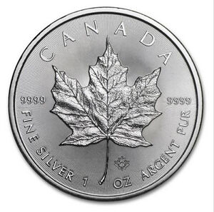 Canadian 5$ Silver Maple Leaf Coin 999% Silver