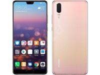 Brand new Huawei P20. Light Pink. Unlocked. Quick Sale Needed.