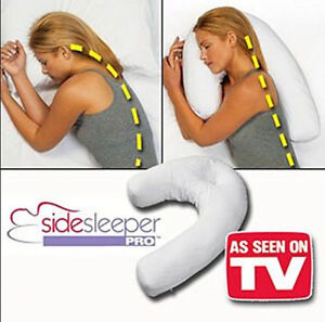 NEW HOT Side Sleeper Pro Neck & Back Pillow:Holds Your Neck / Spine During Sleep