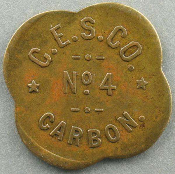 Explosive Control Token – Carbon, UT - C.E.S. Co. No. 4 ~1805