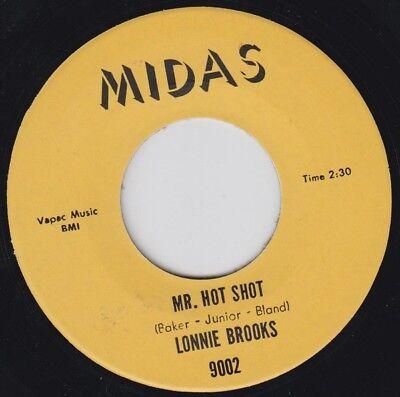 LONNIE BROOKS Mr Hot Shot MIDAS Re.45 7 2 Side 1967 Dance Craze R&B Shouter HEAR