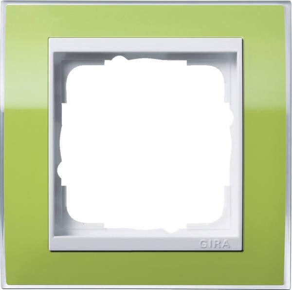 Gira 0211743 Abdeckrahmen 1fach reinweiß Event Klar grün