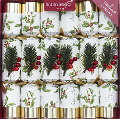 """Robin Reed Christmas Crackers - Henley Dale 6pc English Holiday Party Favor 12"""""""