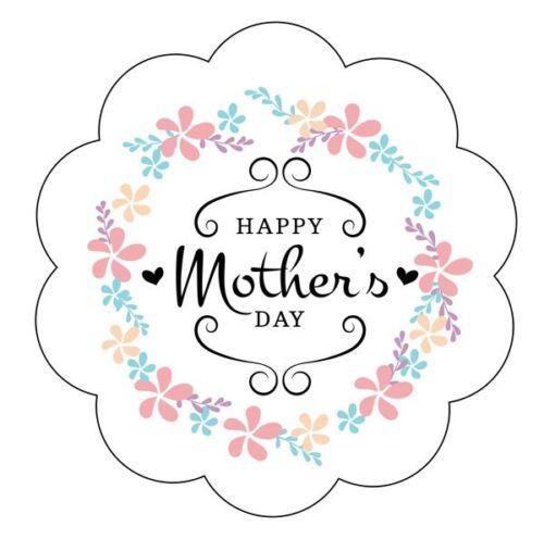 24x 40 mm Pegatinas Feliz El Dia De La Madre//Momia//mamá//Floral//Shabby Chic//Vintage