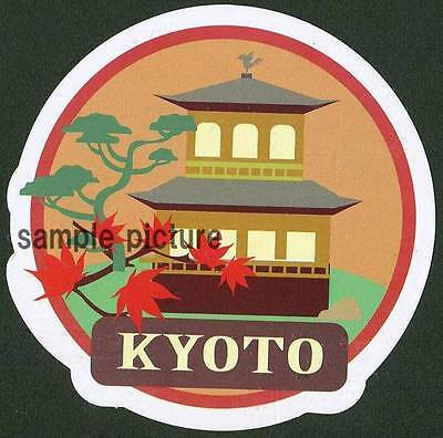 KYOTO Design Travel Sticker For Customization Of Suitcase And Favorite Items