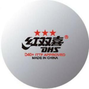 DHS D40+ 3-Star plastic table tennis ball ping pong tabletennis