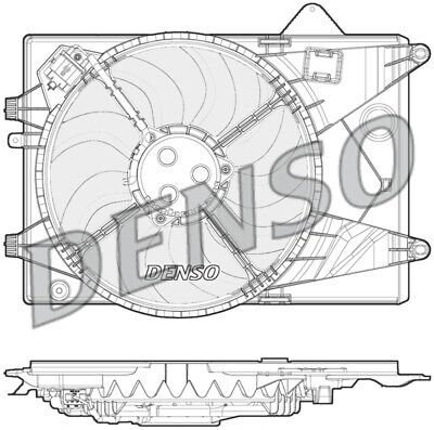Denso DER15003 Engine Cooling Fan Replaces 95352379
