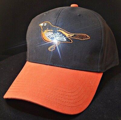 Baltimore Orioles Women's Crystal Bling Baseball Hat (Crystal Baltimore Orioles Baseball)