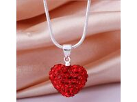 Red Hart Love Necklace