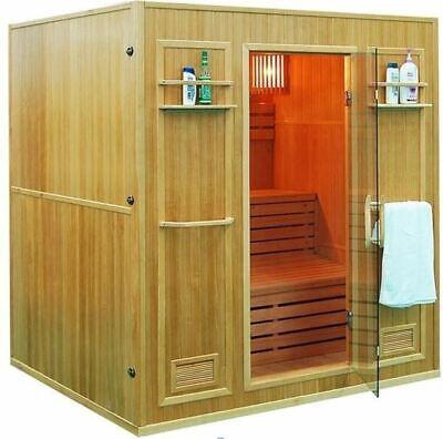 HUGE 4+ Person Canadian Hemlock Wet Dry Traditional Swedish Steam Sauna SPA