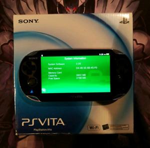PS Vita: Firmware 3.00.   Games sold separately