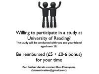Looking for volunteers to take part in paid cognitive study