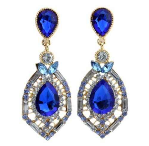 HOT Women Crystal Rhinestone Dangle Drop Ear Stud Fashion Earrings Jewelry Gifts