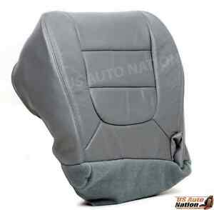 2002 2003 Ford F150 Lariat Driver Bottom Replacement Leather Seat Cover Gray