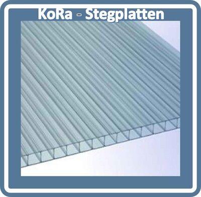 Polycarbonat 2-fach Doppelstegplatten/Hohlkammerplatte, 4mm,klar, 1500mm x 698mm