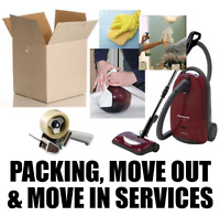 Get help with Packing and Move-Out Clean Up