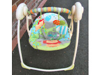 Battery powered baby swing chair with 6 swing speeds