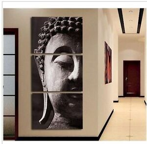 Fashion-3pcs-Wall-Art-Religion-Buddha-oil-Painting-on-canvas-No-frame