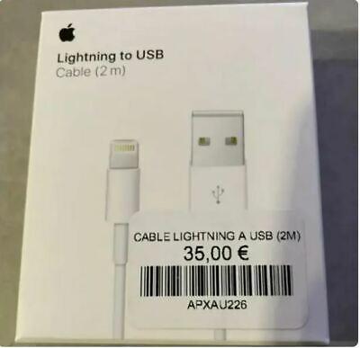 Cable Lightning Original 100% Apple Carga MD819 2m *Caja Retail* iPhone