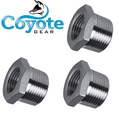 3 Pack 38 Male X 18 Female 316 Stainless Hex Reducer Bushing Coyote Gear 304