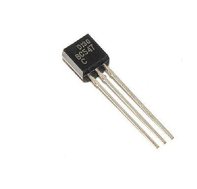 30pcs Bc547 To-92 Npn 45v 0.1a Transistor New Ca