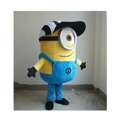 Adult Size Minions Despicable Me Referee Mascot Costume Holidays Birthday Party - Adult Minions Costume