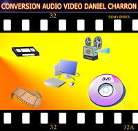 TRANSFERT CASSETTE VHS, FILM ET TAPE 8MM, SUPER 8 ETC A DVD