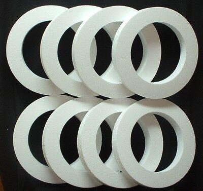 8 pc Styrofoam EPS Polystyrene WREATHS 16