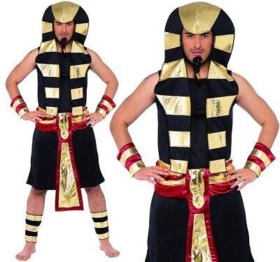 Da Uomo Adulti Faraone Egiziano Costume Egitto Faraone Vestito da Smiffys