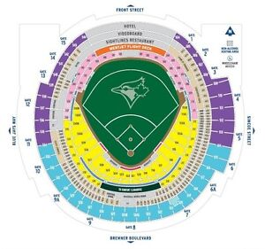Bluejays Final Home Game Tickets Row 4