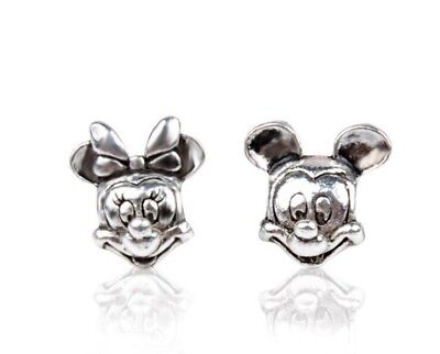 Minnie & Mickey Mouse Twin Pack Disney charms stamped pandora 925