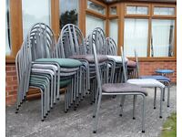 Last 85 Fantastic Stacking Chairs Metal & Vinyl - UK Delivery
