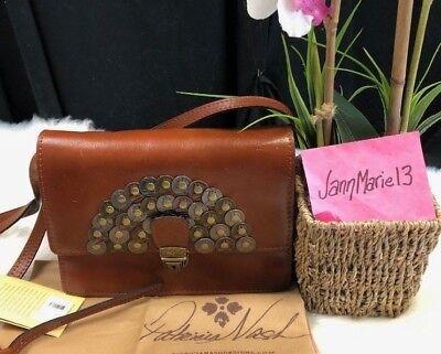 (NEW! Patricia Nash Lanza Studded Coin Crossbody Purse Wristlet Convertible  Bag )