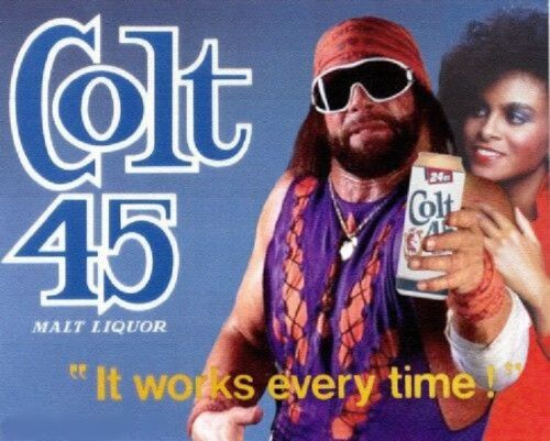 "Large Colt 45 Beer Macho Man  Refrigerator / Tool Box Magnet Ad  8"" x 10"""