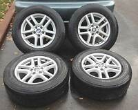 "★★★ (4) OEM BMW X3 2007-15 ★★ 17"" RIMS & ALL SEASONS - 85% TREAD"