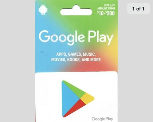 GOOGLE PLAY 25GIFT CARD FREE SHIPPING PHYSICAL CARD  - $22.50