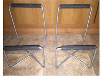 "A Pair Of Aluminium Angled Speaker Stands - 14"" At Tallest Part"