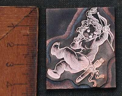 AMOR Galvano Druckstock Kupferklischee Druckplatte Eichenberg ENGEL Cupido