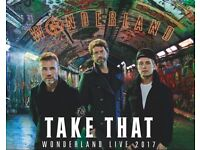 2 x TAKE THAT TICKETS - O2 SAT 10/6/17 - STAGE STANDING - SOLD OUT!