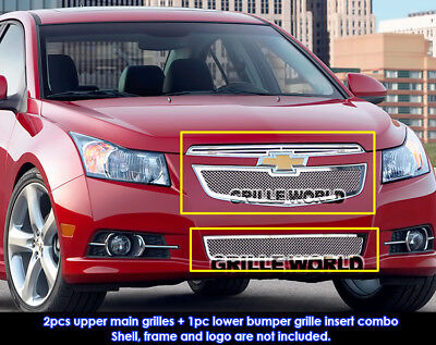 For 11-12 Chevy Cruze LT/LTZ RS pakage Mesh Grille Combo