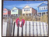 Flip flop beach scene canvas wall picture