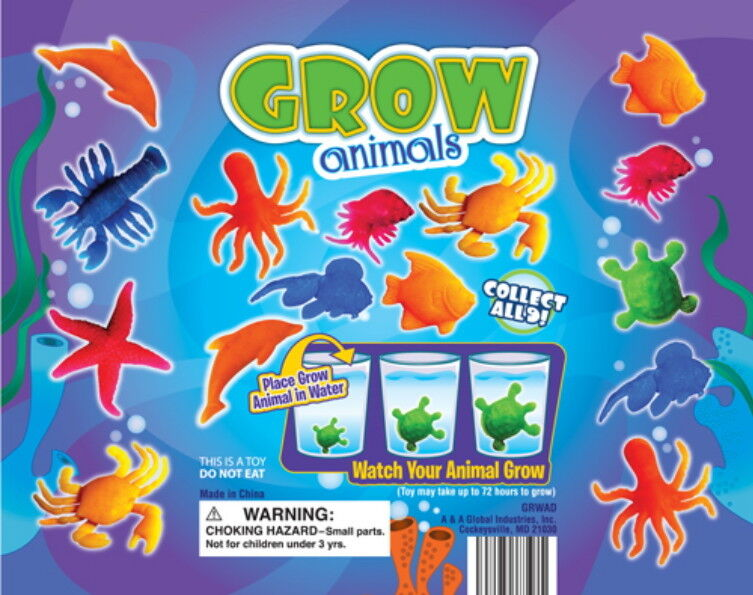 50 SEA CREATURES, GROW HUGE IN WATER, CARNIVAL GOODY BAGS PINATAS, PARTY FAVORS