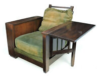 1930s, Heals & Son, Library Book Chair in walnut deco arts and crafts armchair Manchester