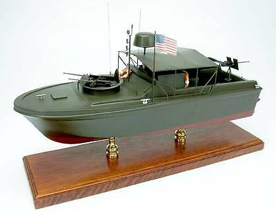 Vietnam War PBR riverboat US Navy display mahogany wood custom model boat