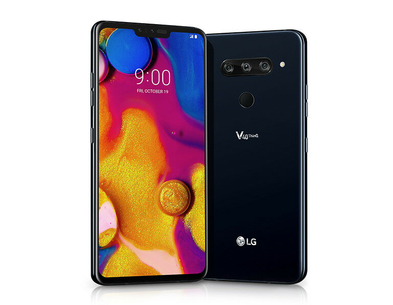 Android Phone - LG V40 ThinQ LM-V405UA - 64GB - Black (Sprint T-mobile AT&T) B GSM Unlocked