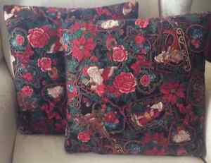 Hand Made Throw Pillows - Victorian Christmas Pattern $18 each