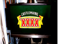 HUGE CASTLEMAINE BAR LIGHT BOX: FULLY FUNCTlONAL - HOME BAR DEC0R, MAN CAVE, PUB SHED, GAMES ROOM