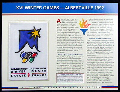 1992 WINTER OLYMPICS XVI Albertville France OLYMPIC GAMES PATCH Willabee & Ward
