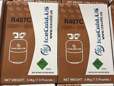 R407c-refrigerant -7.5 Lb Cylinder 7.5 Pound 407c Factory Sealed